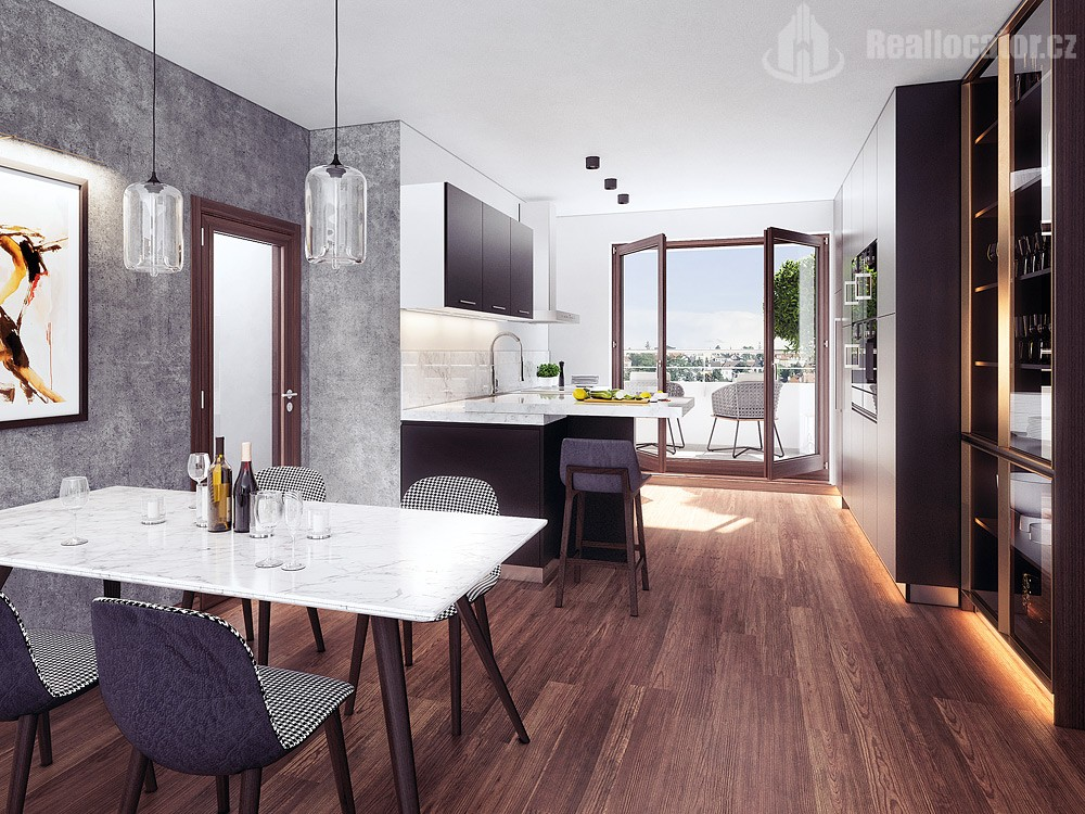 3 room apartment in new building, Prague-Vysocany